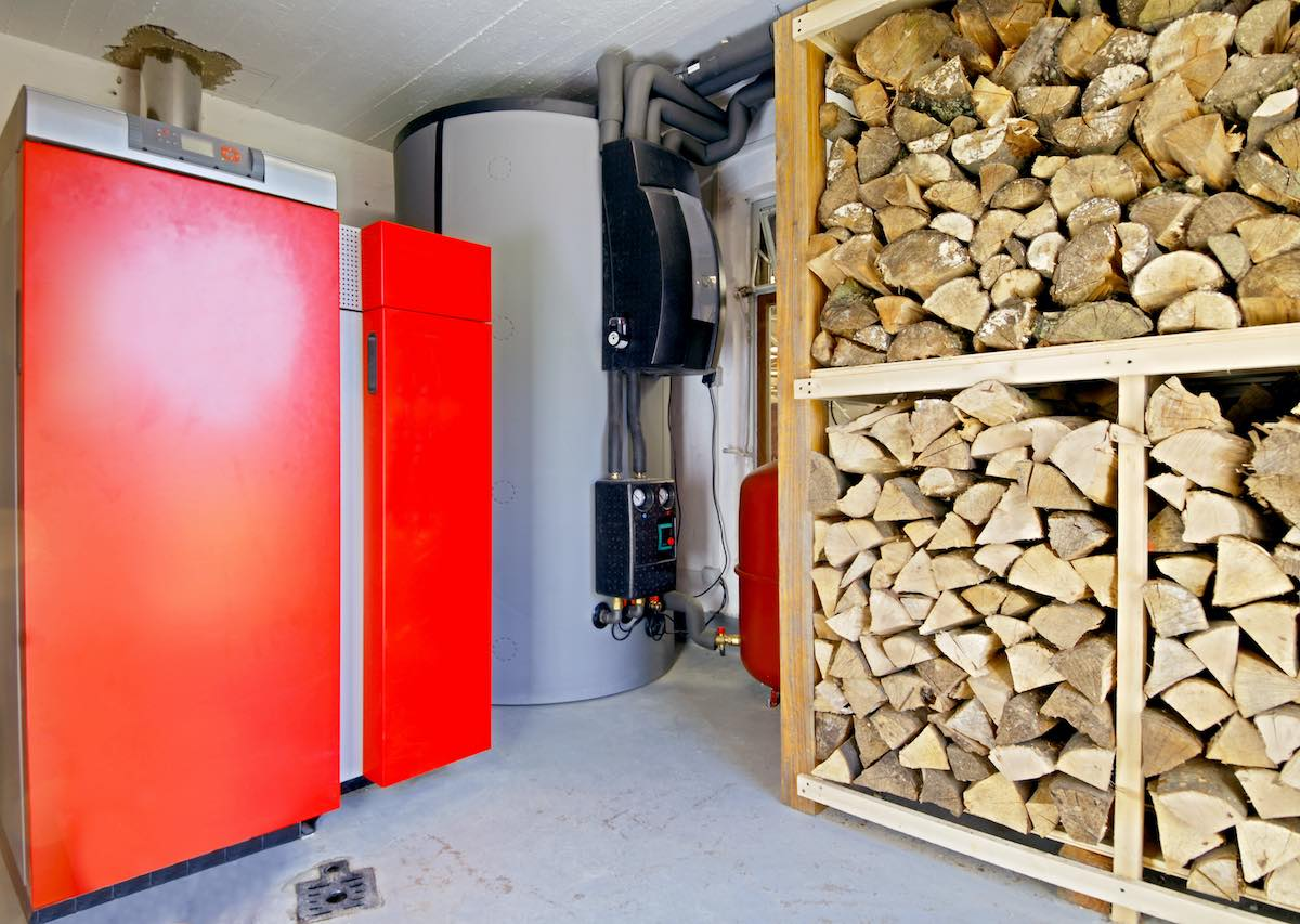 Modern heating room